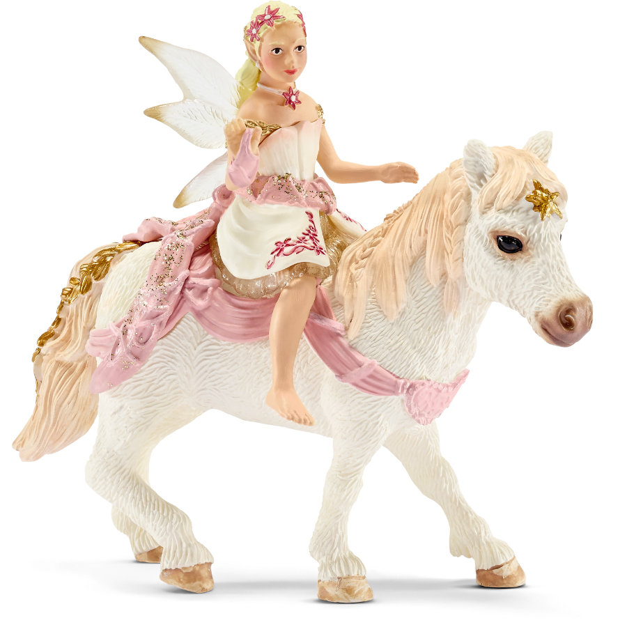 SCHLEICH Delicate Lily Elf, riding a pony 70501