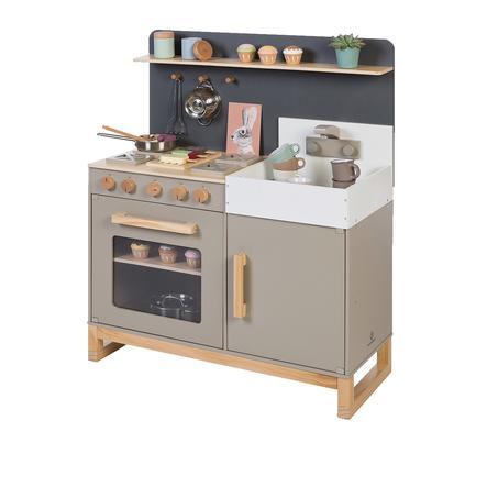 MUSTERKIND ® Cocina de juguete Linum, gris cálido/natural