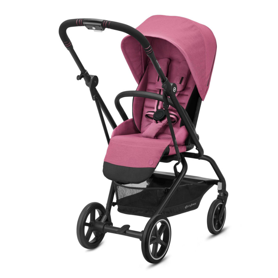 cybex GOLD Kinderwagen Eezy S Twist+ 2 Black Magnolia Pink