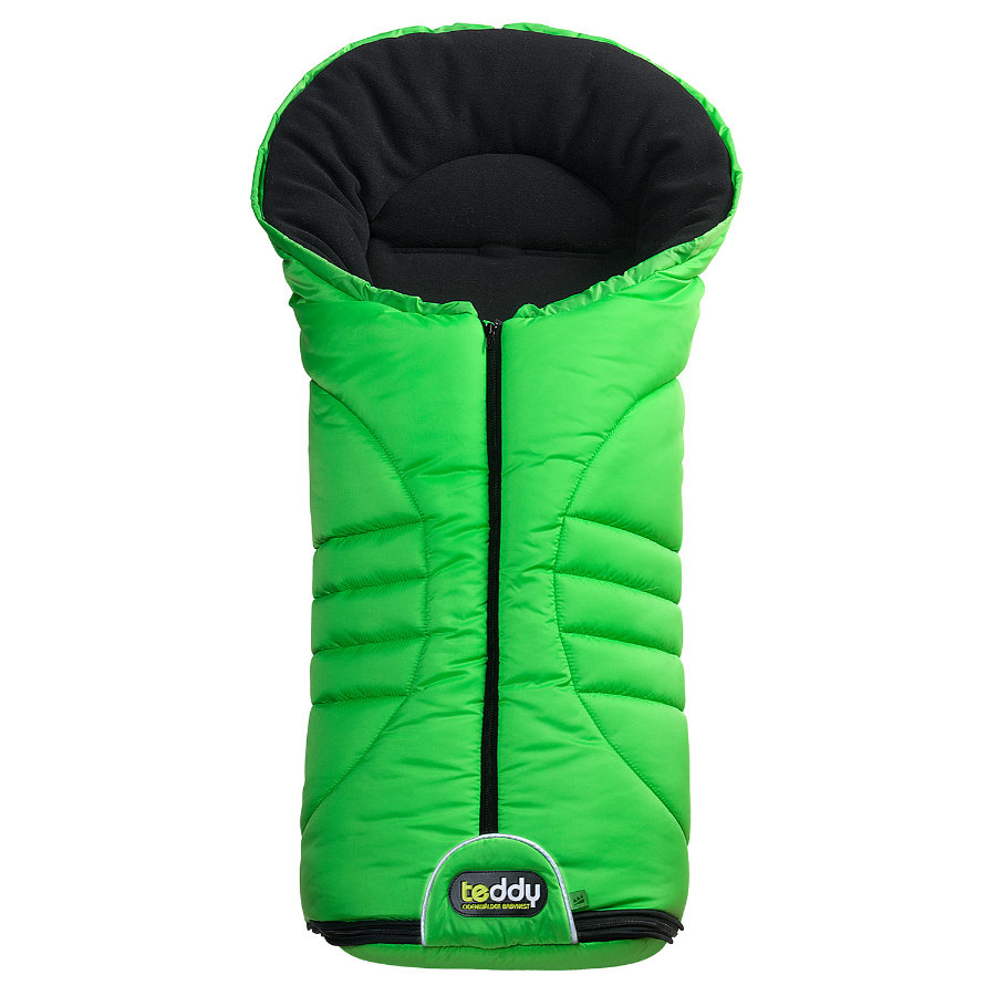 ODENWÄLDER Pram Footmuff Teddy one 2 apple green (12310/545) Collection 2014/15