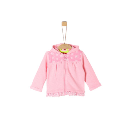 s. Olive r Sweatjacket poudre rose