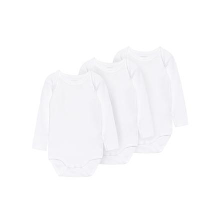 NAME IT Body dziecięce 3szt. bright white