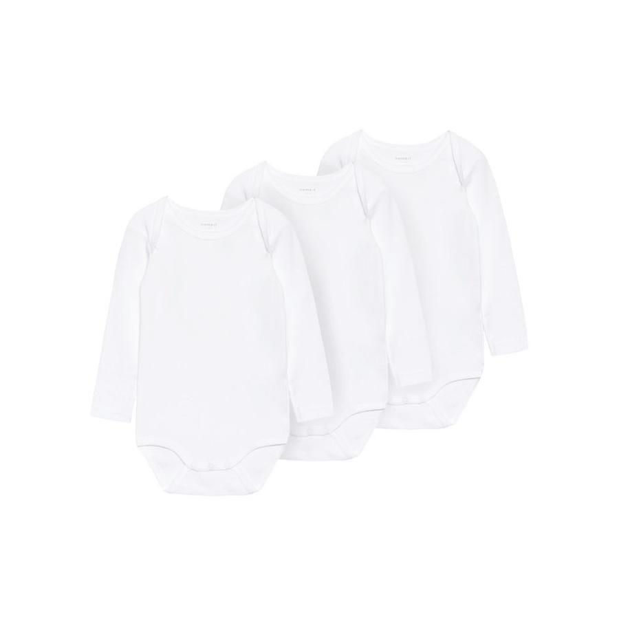 name it Body enfant coton bright white lot de 3