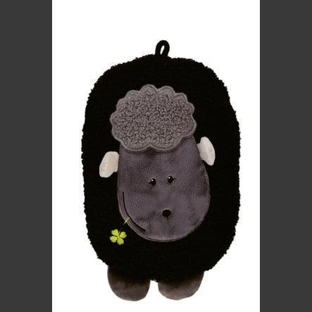 HUGO FROSCH Hot Water Bottle Eco 0,8 L Fleece Cover Lamb Black