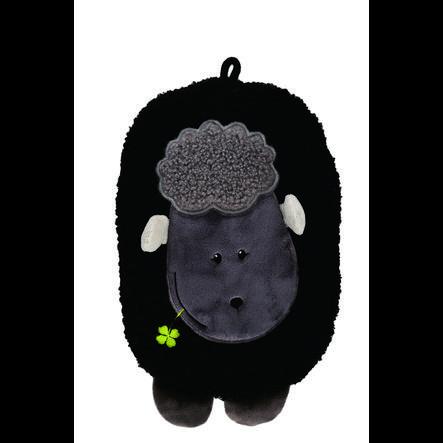 HUGO FROSCH Varmvattenflaska Eco 0,8 L Fleece Cover Lamb Black