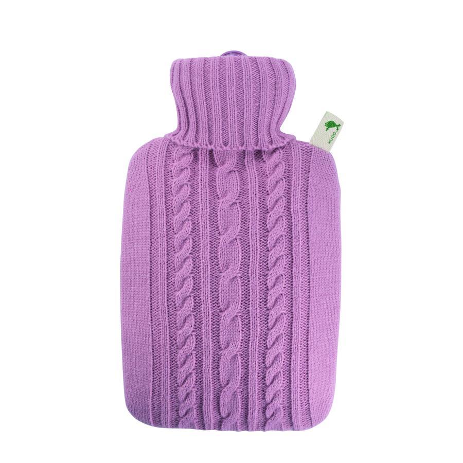 HUGO FROSCH Wärmflasche Klassik 1.8 L Strickbezug pastell-rosa