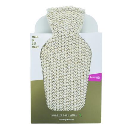 HUGO FROSCH Wärmflasche Klassik 1.8 L Strickbezug beige