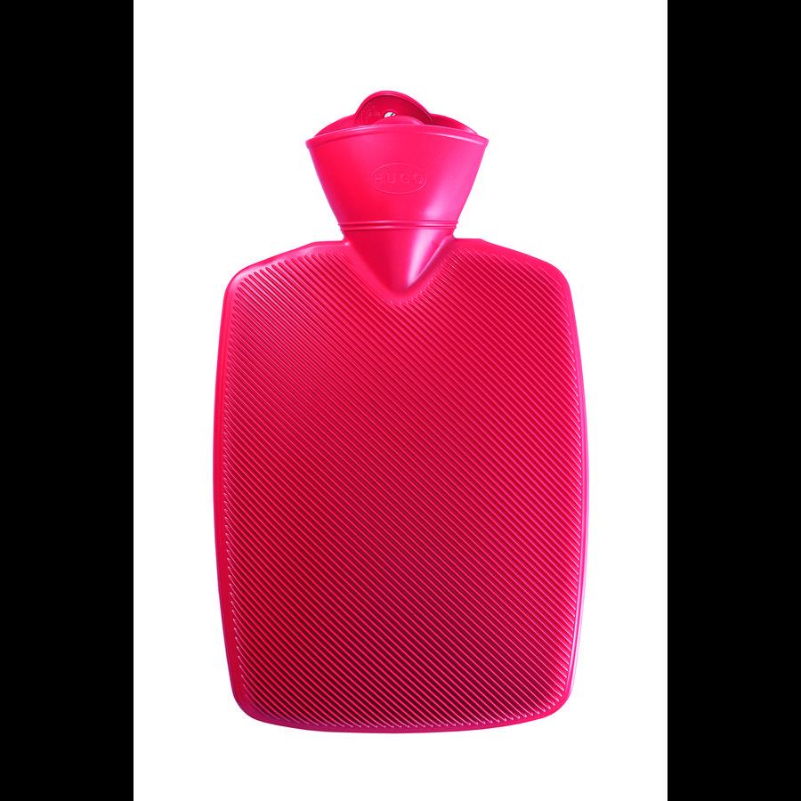 HUGO FROSCH Wärmflasche Klassik Hugo 1.8 L Halblamelle rot