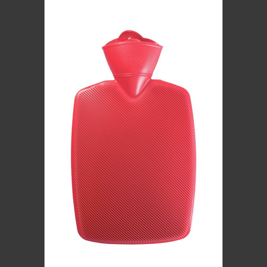 HUGO FROSCH Warmwaterfles Klassik Hugo 1,8 L half-lamella rood