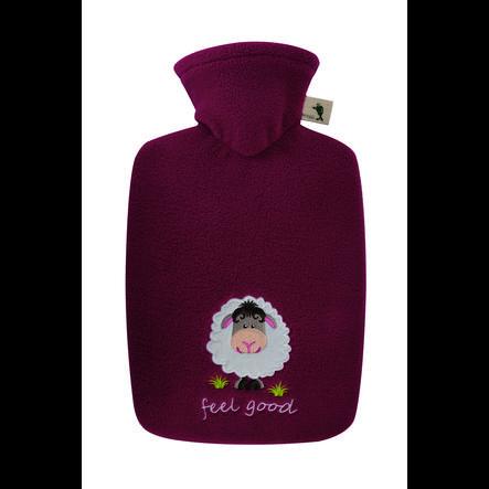 "HUGO FROSCH Wärmflasche Klassik 1.8 L Fleecebezug rot ""feel good"""