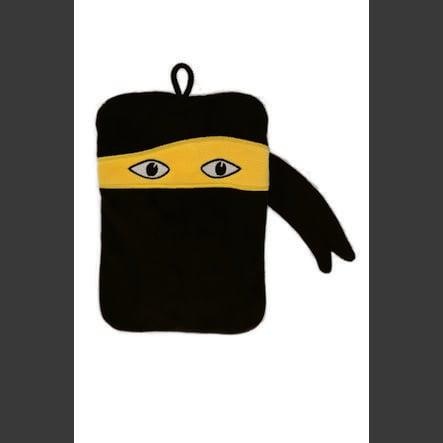 HUGO FROSCH Wärmflasche Mini 0.2 L Flauschbezug Ninja