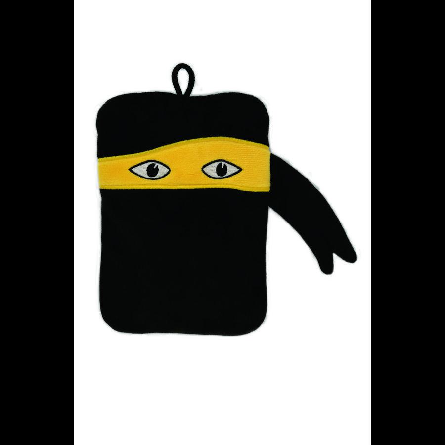 HUGO FROSCH Varmtvannsflaske Mini 0,2 L fleecedeksel Ninja