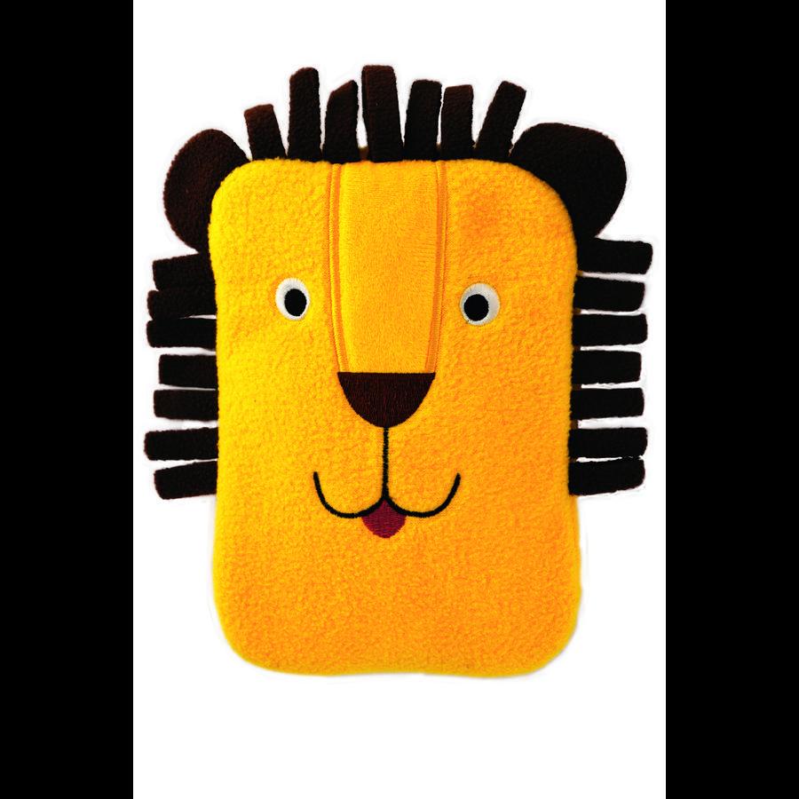 HUGO FROSCH Varmvattenflaska Mini 0.2 L fleece täck lejon