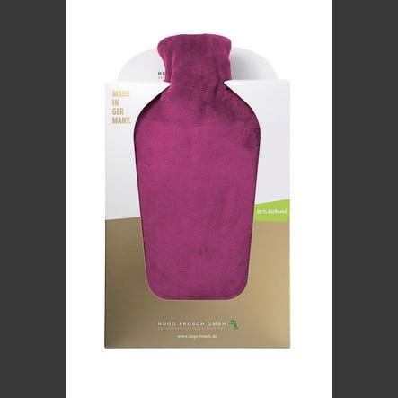 HUGO FROSCH Varmtvannsflaske Öko 2.0 L Nicki-deksel fiolett