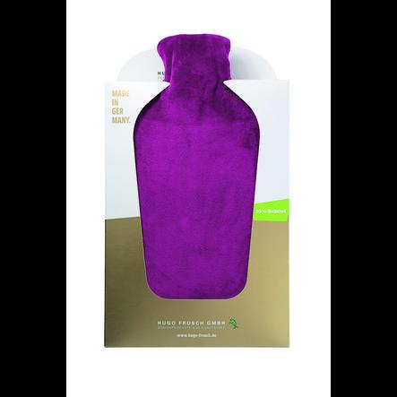 HUGO FROSCH Wärmflasche Öko 2.0 L Nickibezug violett
