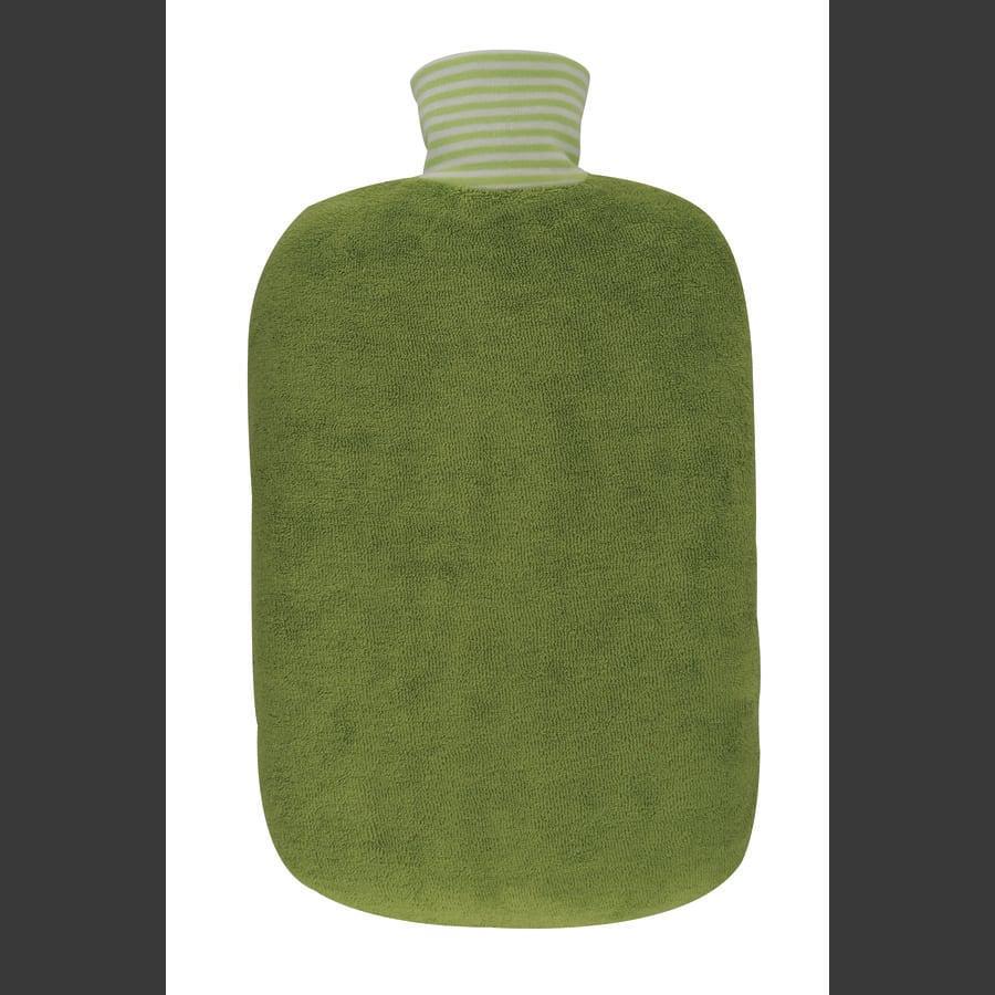 HUGO FROSCH Warmwaterfles Öko 2,0 L organisch deksel kiwi