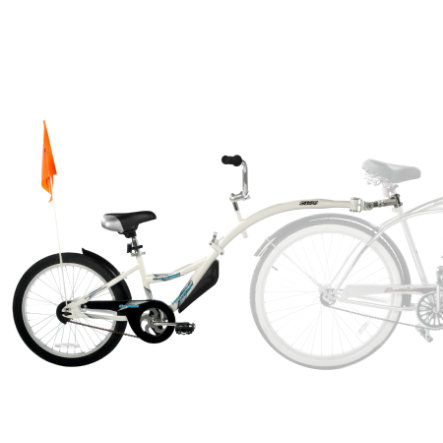 WeeRide Remorque de vélo enfant Tandem Copilot White