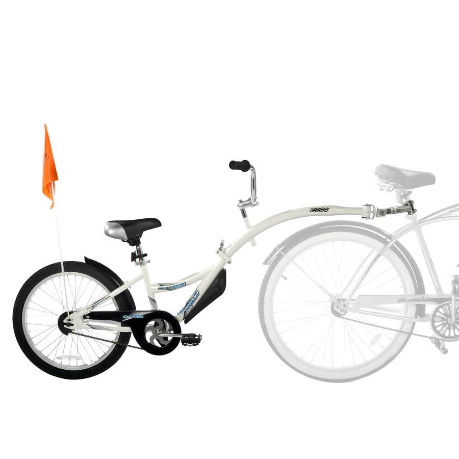 WeeRide Remolque de bicicleta para niños Tandem Copilot White