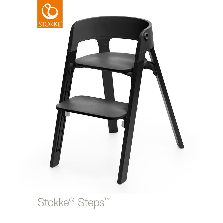 STOKKE® Steps™ Hochstuhl schwarz Eiche schwarz