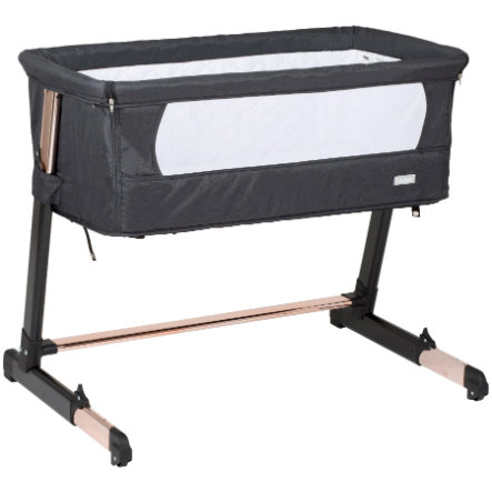 babyGO Side bed Together Black -Gold