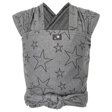 Hoppediz Maxi Elastisches Tragetuch Grau mit Sternen