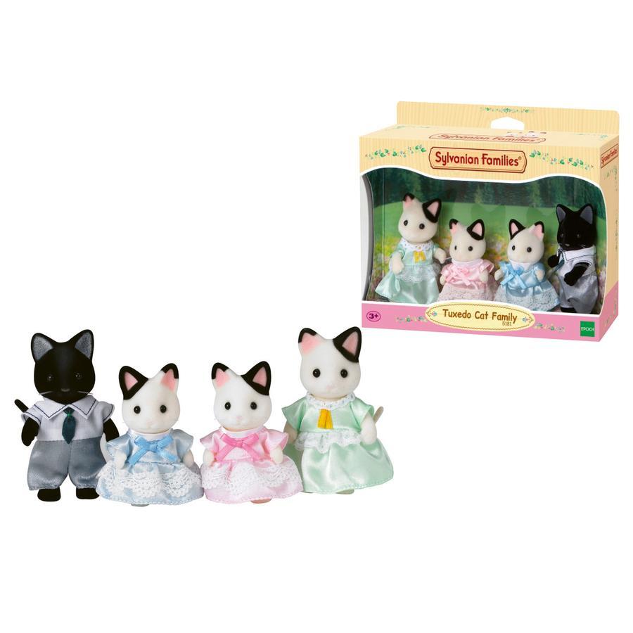 Sylvanian Families® Tuxedo Katte: Familie Schwarzohr