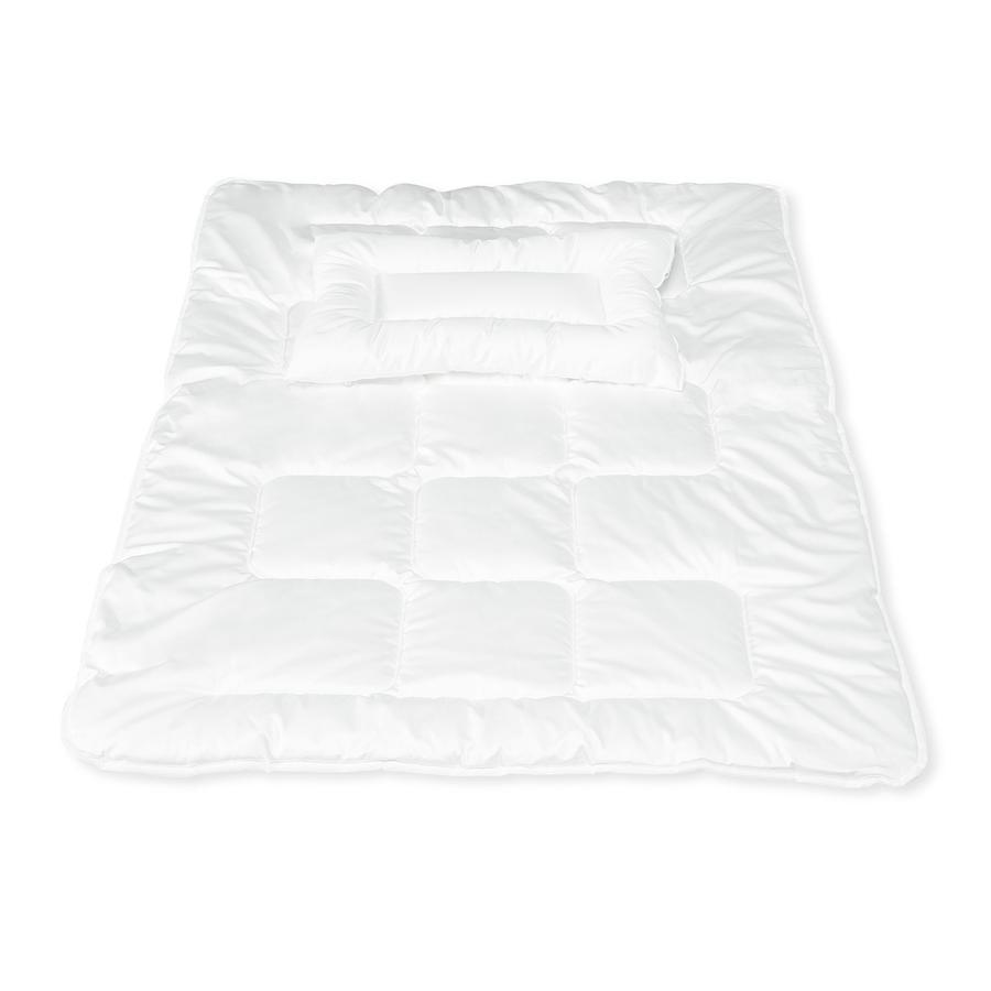 Pinolino Couette enfant piquée et oreiller plat Allergo 100x135/40x60 cm
