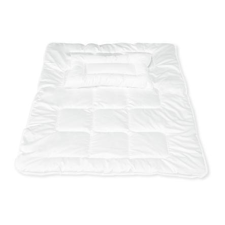 PINOLINO Couverture de lit Aloe Vera avec oreiller plat 100 x 135 cm, 40 x 60 cm