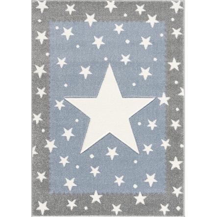Alfombra de niños LIVONE A los niños les encantan las alfombras gris FANCY plateado/azul 160x220cm