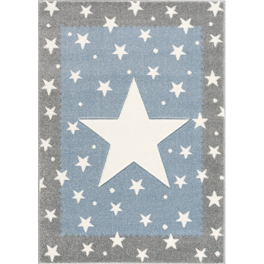 LIVONE tapis pour enfants Les enfants aiment les tapis FANCY gris argent/bleu 160x220cm