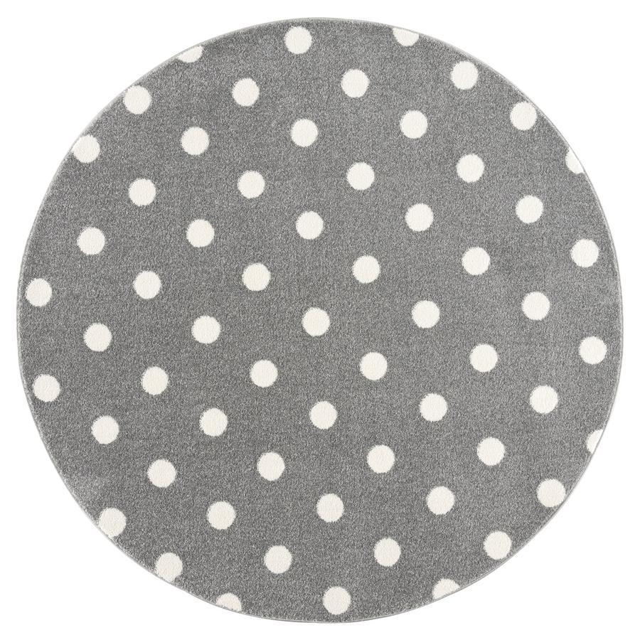 LIVONE Tapis enfant rond Kids love Rugs CIRCLE gris argenté/blanc 100 cm
