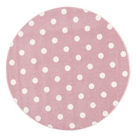 LIVONE kinderdeken Kinderen houden van Tapijten CIRCLE roze/wit 160 cm rond