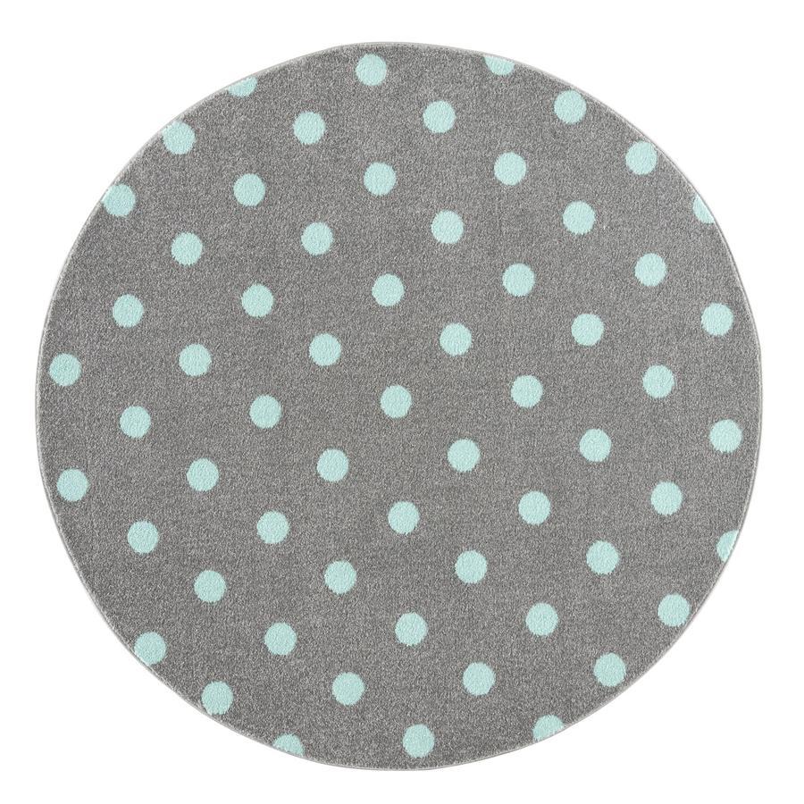 LIVONE kinderdeken Kinderen houden van Tapijten CIRCLE zilvergrijs/munt 160 cm rond