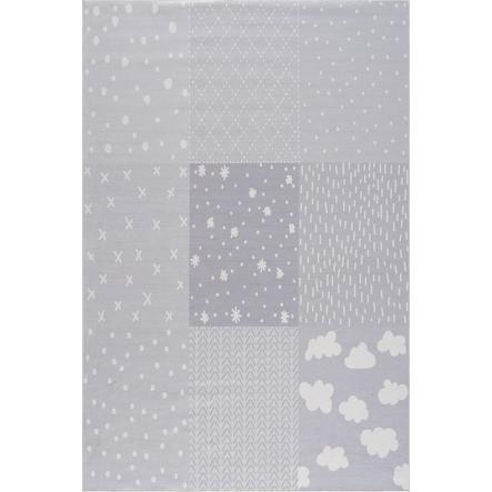 LIVONE dětský koberec Happy Rugs PATCHWORK stříbrná šedá 90 x 160 cm