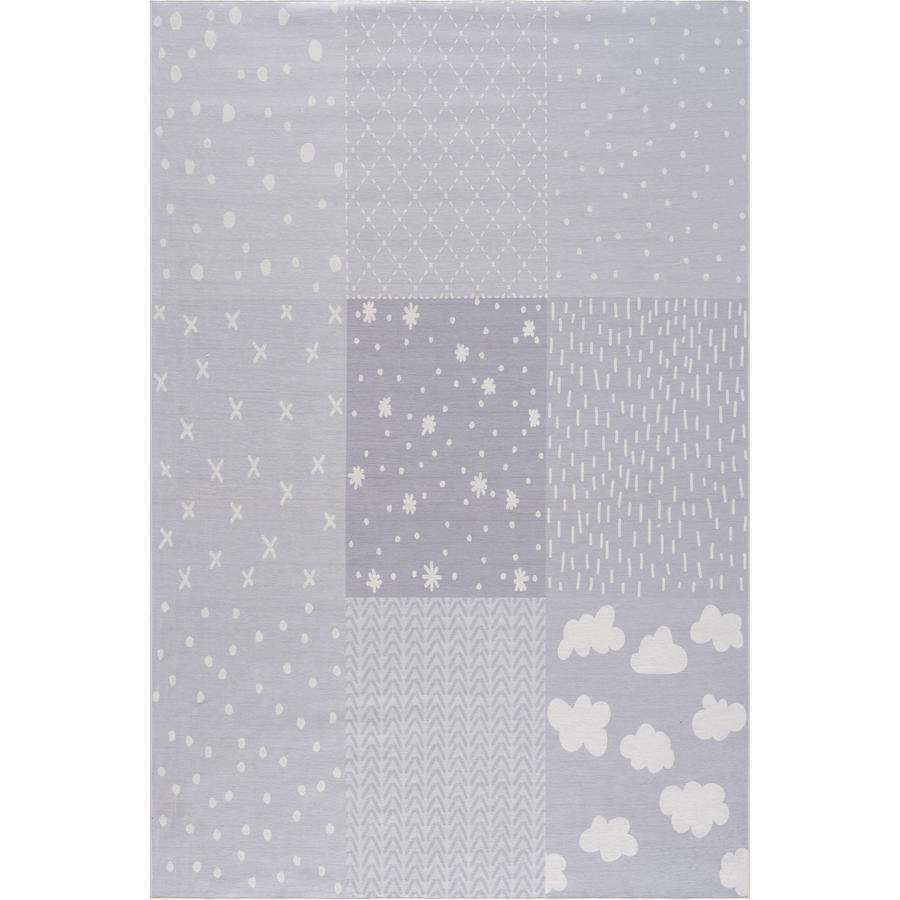LIVONE dětský koberec Happy Rugs PATCHWORK stříbrná šedá 160 x 230 cm