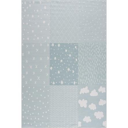 LIVONE tæppe til børn Happy Rugs PATCHWORK mint 160 x 230 cm