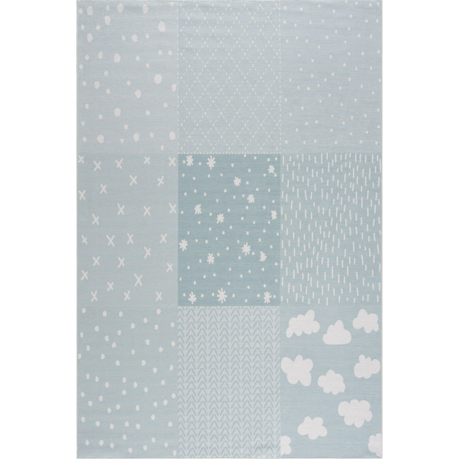 LIVONE Kinderteppich Happy Rugs PATCHWORK mint 160 x 230 cm