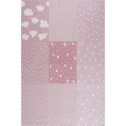 LIVONE Kinderteppich Happy Rugs PATCHWORK rosa 160 x 230 cm