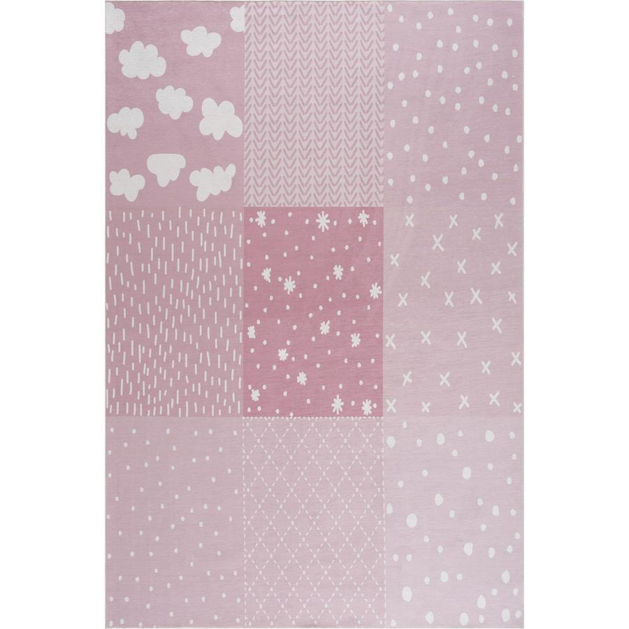 LIVONE barneteppe Happy Rugs PATCHWORK rosa 160 x 230 cm