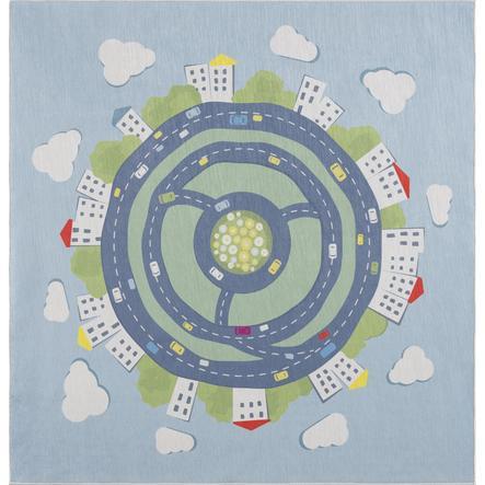 LIVONE dětský koberec Happy Rugs KIDS EARTH modrá 120 x 120