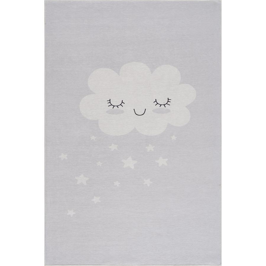 Tapis pour enfants LIVONE Happy Rugs CLOUD gris argenté 90 x 160 cm