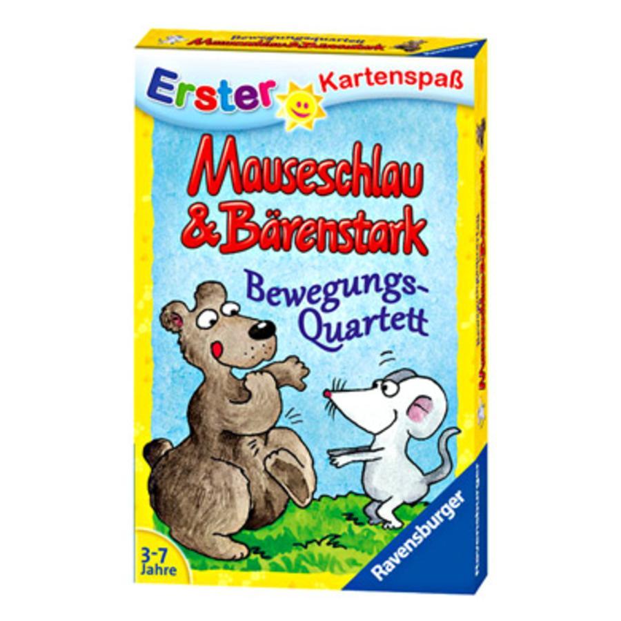 RAVENSBURGER Erster Kartenspaß Mauseschlau & Bärenstark Bewegungsquartett
