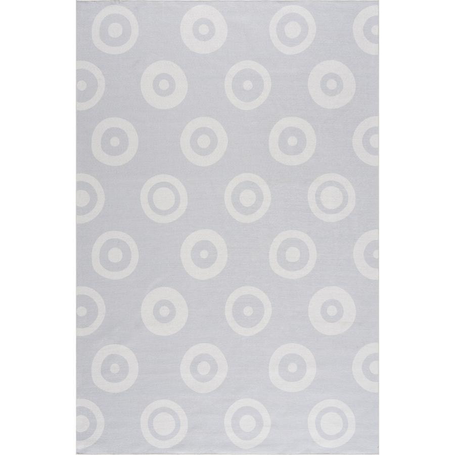 LIVONE dětský koberec Happy Rugs DOUBLE DOTS stříbrná šedá 90 x 160 cm