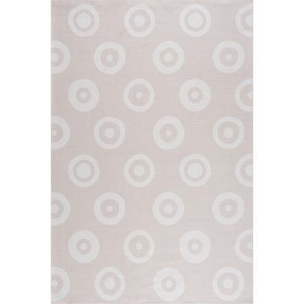 LIVONE dětský koberec Happy Rugs DOUBLE DOTS písek 90 x 160 cm