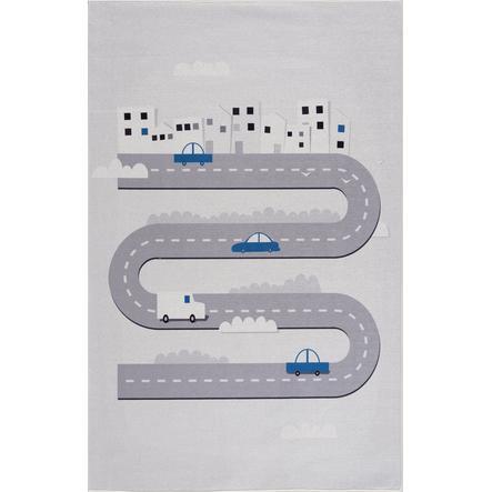 LIVONE kindertapijt Happy Rugs STREET zilvergrijs 90 x 160 cm