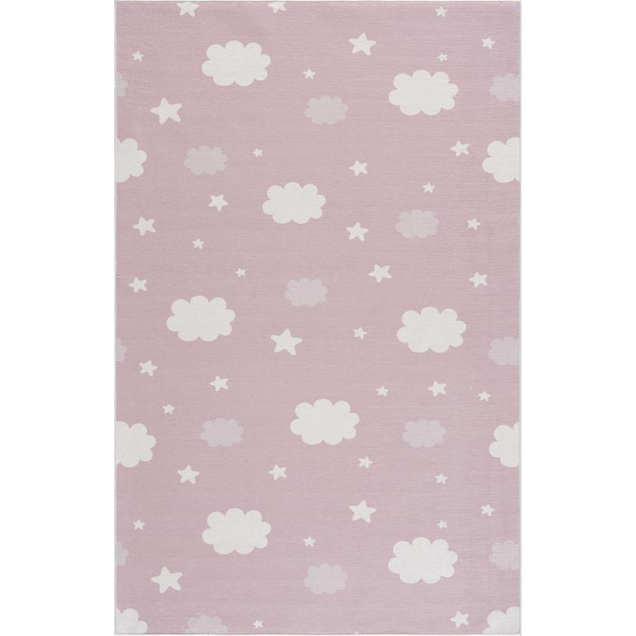 LIVONE Kinderteppich Happy Rugs NIGHT rosa 90 x 160 cm