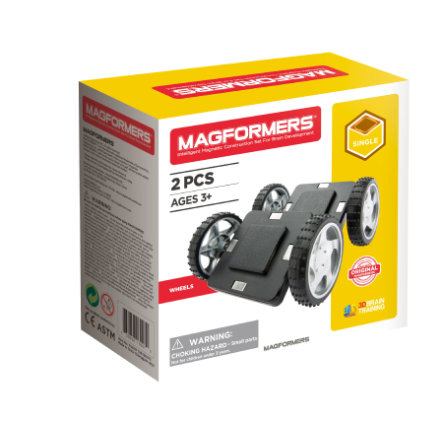 MAGFORMERS ® hjul med grundplade 2
