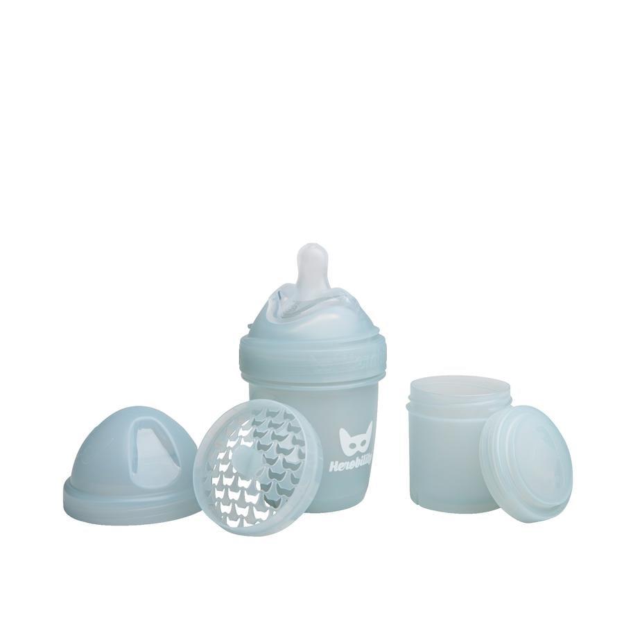 Herobility HeroBottle Antikoliková kojenecká láhev šedá 140ml