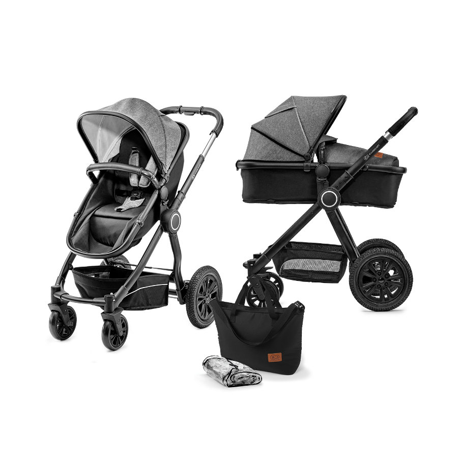 Kinderkraft Wózek dziecięcy 2 w 1 Veo black/grey