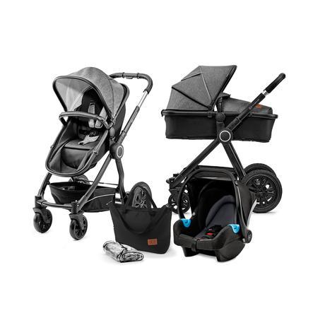 Kinderkraft Wózek dziecięcy 3 w 1 Veo black/grey